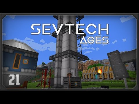 SevTech Ages EP21  Immersive Petroleum Pumpjack + Distillation Tower