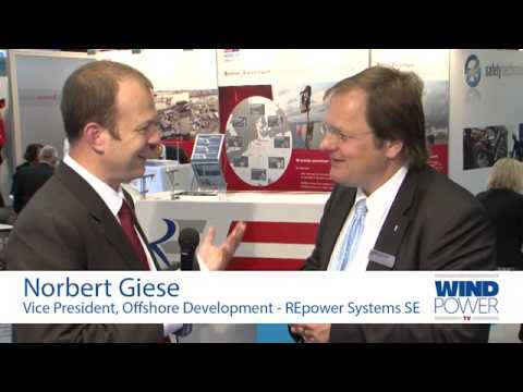 Norbert Giese, from REpower Systems SE, interviewed at Offshore Wind 2013