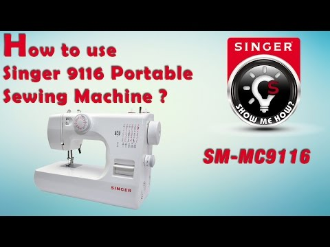How to use Singer 9116 Portable Sewing Machine (SM-MC9116)
