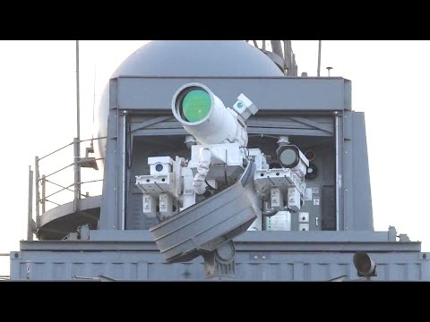 Office Of Naval Research - Laser Weapon System (LaWS) Live Firing Onboard USS Ponce [1080p]