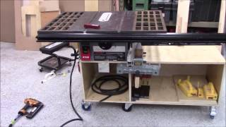 old cast ion contractor table saw restore and upgrade part 3