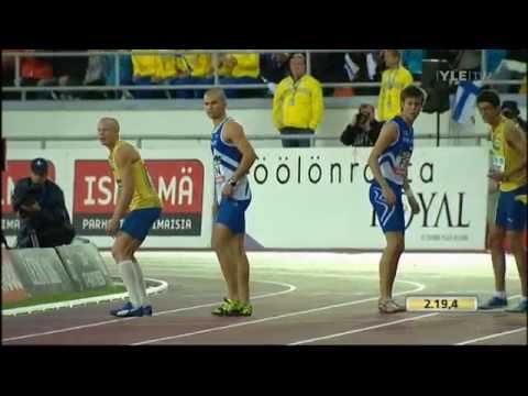 M 4x400m Suomi-Ruotsi maaottelu 2011 - YouTube