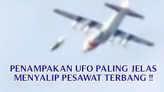 """VIDEO PENAMPAKAN UFO PALING JELAS """"TEREKAM KAMERA MENYALIP PESAWAT TERBANG"""" PENAMPAKAN UFO ASLI !!"""
