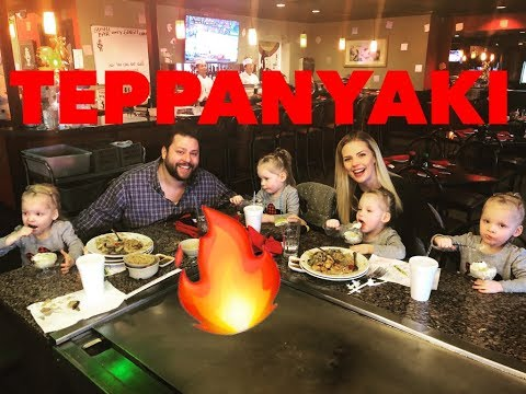 QUADRUPLETS FIRST TIME TO A TEPPANYAKI RESTURANT