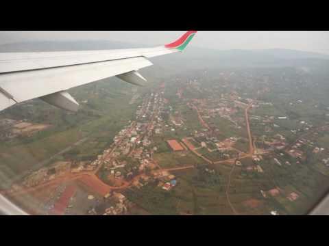 Kenya Airways E190 landing at Kigali Airport