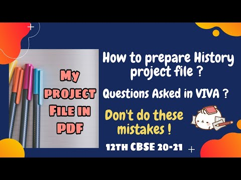 How To Prepare for History Practical Exam | Project Work | Format | Tips | CBSE 20-21