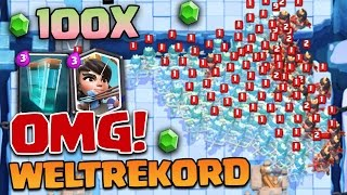 Neuer Prinzessin WELTREKORD?! | Klonzauber Action - 100+ Princess | Clash Royale deutsch