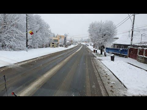 Prima ninsoare mai serioasă căzută la Mediaș nu a creat probleme  | novatv.ro