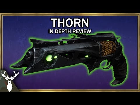 Destiny 2 - Thorn - In Depth Review (Exotic Kinetic Hand Cannon) thumbnail