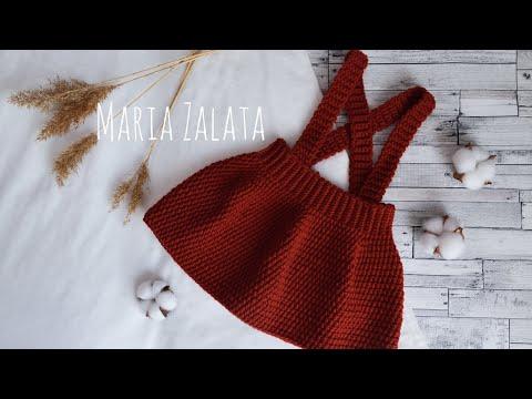Вяжем крючком юбку для девочки видео