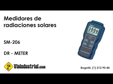 Medidor de radiaciones de energía solar SM-206
