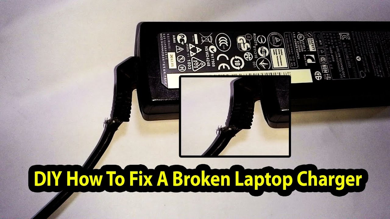 diy how to fix a broken laptop charger adapter hp lenovo dell ibm [ 1280 x 720 Pixel ]