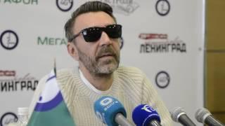 Сергей Шнуров на пресс-конференции в Нижнем Новгороде