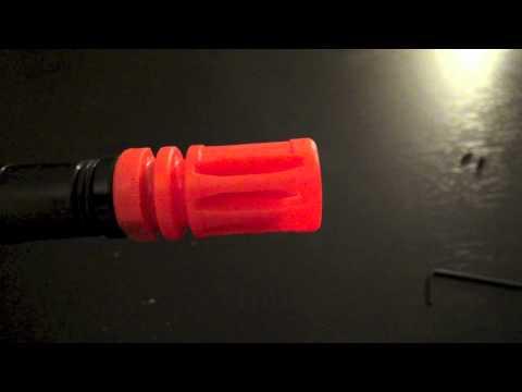 How To Remove Orange Flash Hider Off M4...