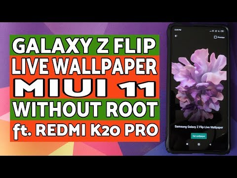 Galaxy Z Flip Live Wallpaper On Miui 11 Without Root Ft Redmi K20 Pro Youtube