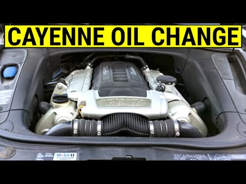 How To Change Engine Oil Filter On A Porsche Cayenne Turbo Diy Tutorial