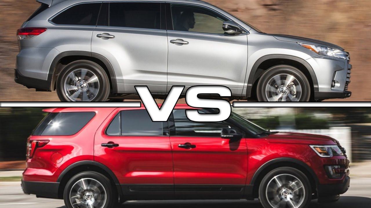 2017 Toyota Highlander Vs 2016 Ford Explorer