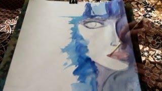 Стилизованный портрет акварелью|Stylized portrait in watercolor