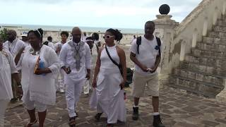 Court Yard of Cape Coast Holocaust Dungeons - Ghana May 2018 Tour