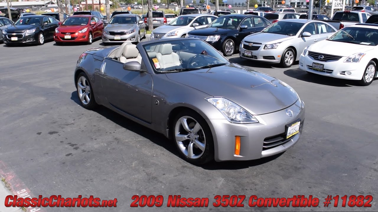 used 2009 nissan 350z convertible for sale in vista at classic chariots 11882 youtube. Black Bedroom Furniture Sets. Home Design Ideas