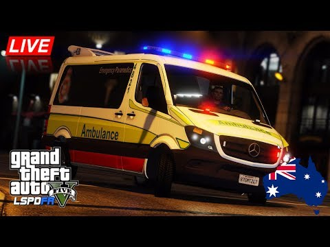 GTA 5 - LSPDFR Australia LIVE - Queensland Ambulance Service City Patrol