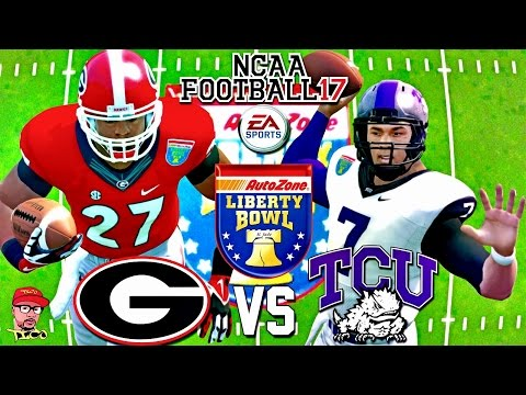 🏈 2016 LIBERTY BOWL!!! | GEORGIA Vs. TCU BOWL GAMEPLAY!!! | NCAA FOOTBALL 17