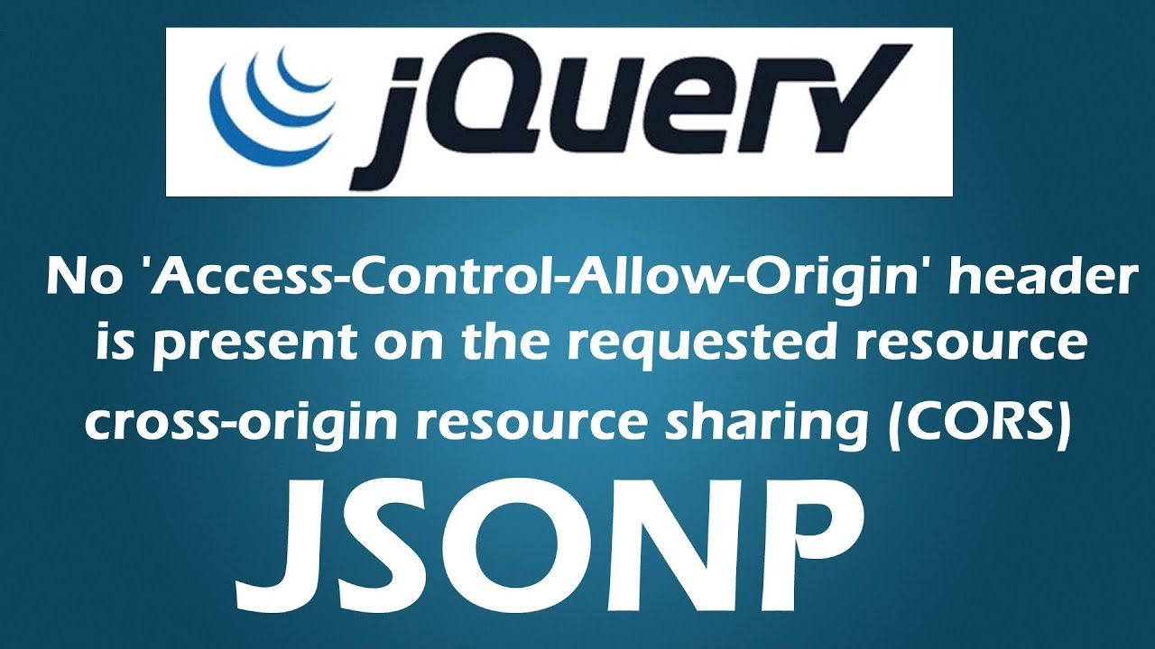 Failed to load : No 'Access-Control-Allow-Origin' header is present