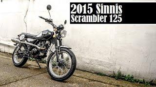 2015 Sinnis Scrambler 125, a retro bike with scramblie looks, cheaper than a Ducati Scrambler