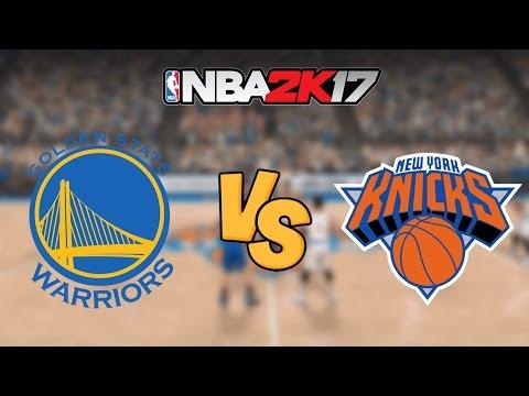 NBA 2K17 - Golden State Warriors vs. New York Knicks - Full Gameplay
