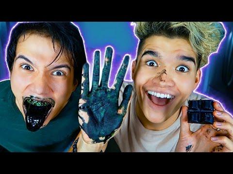 DIY BLACK CHOCOLATE TASTE TEST!