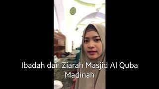 Ikke Nurjanah di Masjid Al Quba Madinah 2017