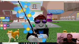 Trying Warrior Simulator and reaching second area -Roblox
