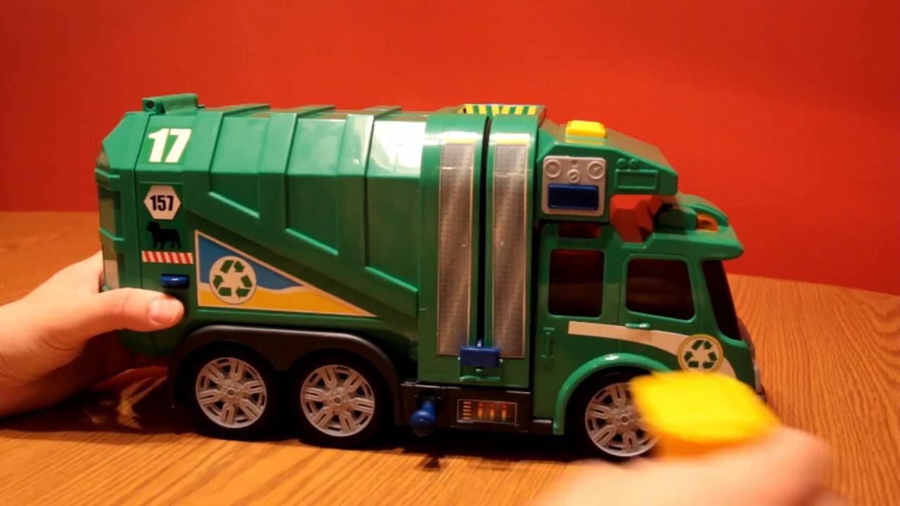 Fast Lane Light Amp Sound Garbage Truck Demonstration Youtube