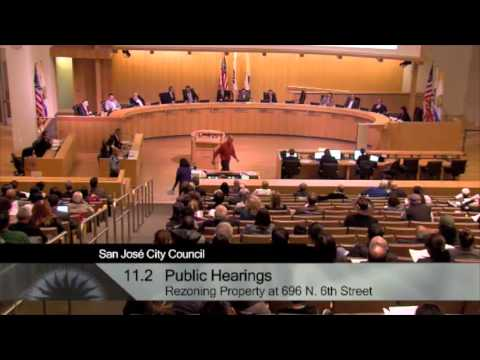 San Jose City Council on Re-zoning Request for Corporation Yard (Heinlenville) Development