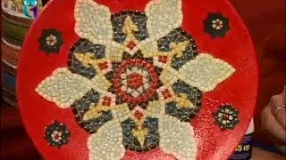 Декупаж Декорирование тарелки имитацией мозаики Мастер класс Наташа Фохтина