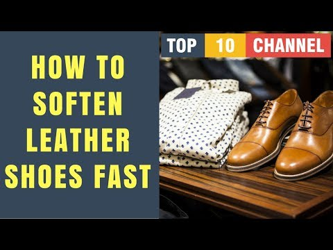 How To Soften Leather Shoes Fast with Olive oil | Coconut oil | Vaseline | Shoe polish