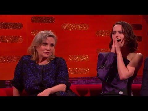 Graham Norton: Carrie Fisher geeft raad aan Daisy Ridley