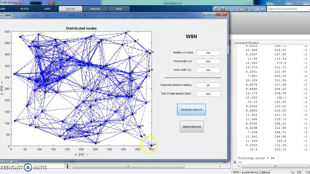 WSN simulation and bad nodes detection using matlab