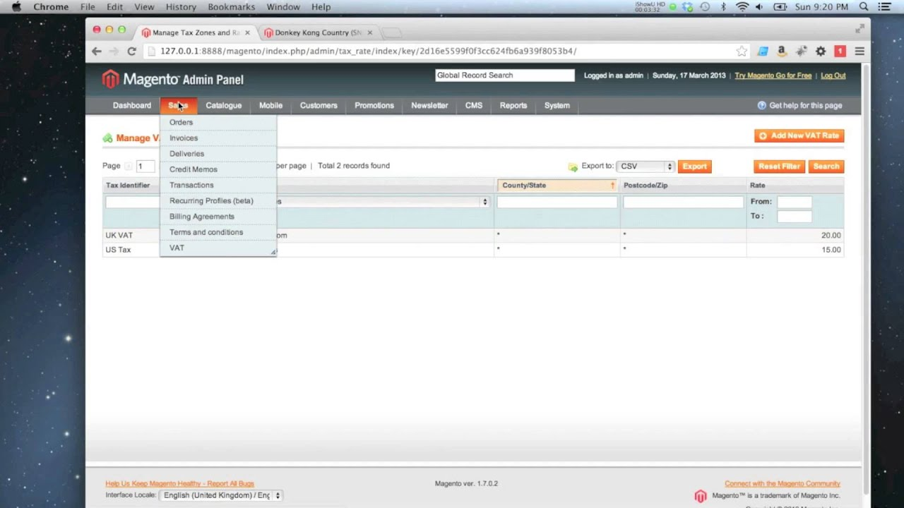 Magento How To Create A Tax Rate And Rule Youtube