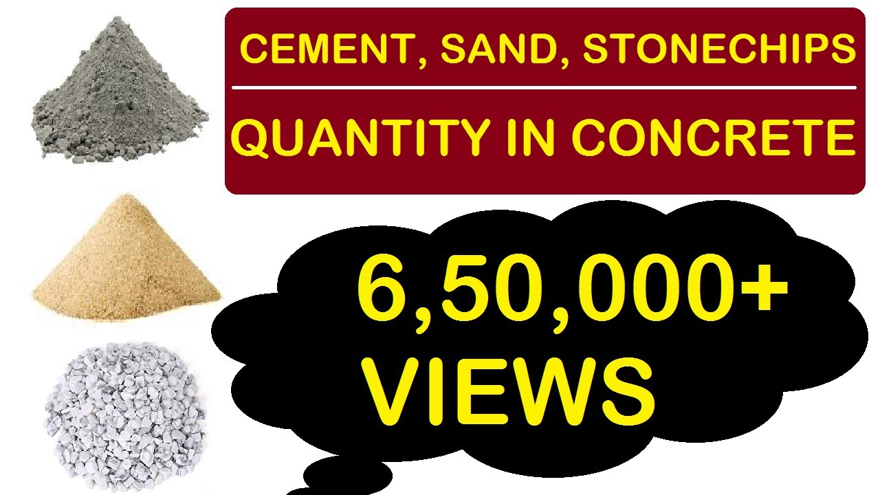 How To Calculate Cement Sand And Aggregate Quany In Concrete L T You