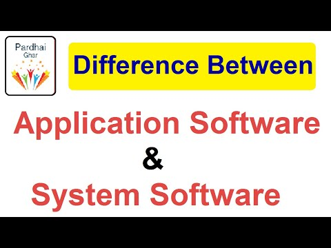 Difference Between Application Software & System Software - Computer Topic - Pardhai Ghar