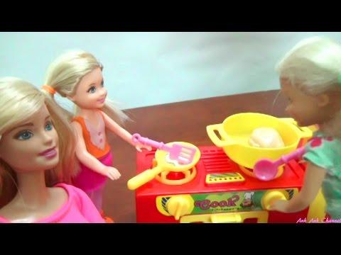 💜 Đồ chơi nấu bếp cho búp bê - Chị em búp bê Barbie - Bộ bếp mới của Chelsea, AnhAnhChannel.com