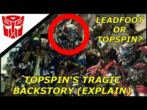 Transformers The Last Knight Why Topspin has Leadfoot's face?(Explain)