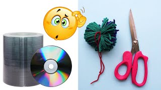 DIY Wall Hanging out of Waste CD | best out of waste | CD and wool reuse idea