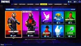 *NEW* SKINS LEAKED IN FORTNITE BATTLE ROYALE! - Burnout, Rogue Agent, Rex Epic Skins On Fortnite!