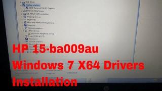 hp notebook 15 ba009au windows 7 x64 drivers installation guide