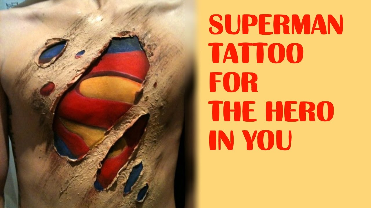 a00d77922 30 Superman Tattoo for the Hero in You - YouTube