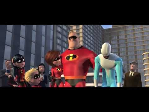 Pixar: The Incredibles - whole movie in 2 minutes (action montage, HD 720p)