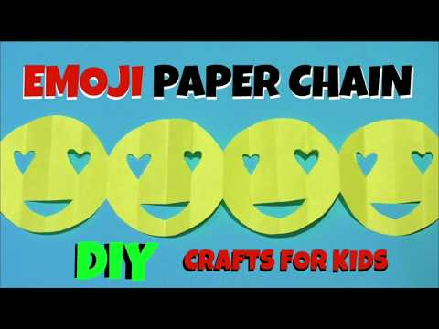 HOW TO MAKE AN EMOJI PAPER CHAIN DECORATION FOR EMOJI PARTIES - EMOJI PARTY IDEAS- EMOJI CRAFTS