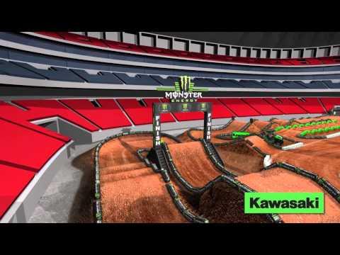 Supercross LIVE 2014 – Atlanta 22214 – Monster Energy Supercross Animated Track Map